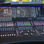 Allen & Heath dLive S5000 Console with Stargate Logo reflection...