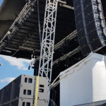 12 L'acoustics K2 (per side) over 16 KS28 subs on Sam 550